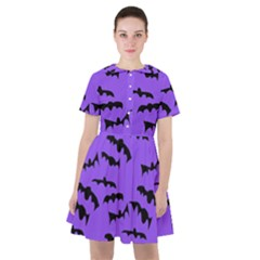 Bats Pattern Sailor Dress by bloomingvinedesign