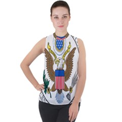 Seal Of United States District Court For Northern District Of California Mock Neck Chiffon Sleeveless Top