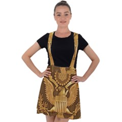 Seal Of United States District Court For Southern District Of Texas Velvet Suspender Skater Skirt