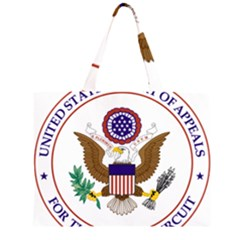 Seal Of United States Court Of Appeals For Fourth Circuit Zipper Large Tote Bag by abbeyz71