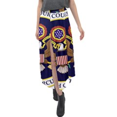 Seal Of United States Court Of Appeals For Fifth Circuit Velour Split Maxi Skirt by abbeyz71