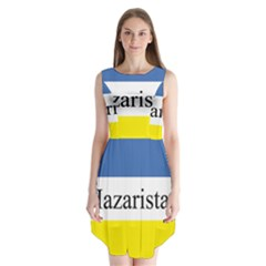 Flag Of Hazaristan Sleeveless Chiffon Dress