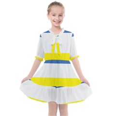 Flag Of Hazaristan Kids  All Frills Chiffon Dress by abbeyz71