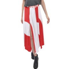 Logo Of Scottish Labour Party Velour Split Maxi Skirt by abbeyz71