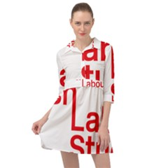 Logo Of Scottish Labour Students Mini Skater Shirt Dress