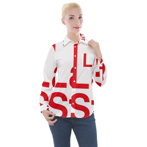 Logo Of Scottish Labour Students Women s Long Sleeve Pocket Shirt by abbeyz71