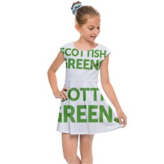 Logo Of Scottish Green Party Kids  Cap Sleeve Dress by abbeyz71