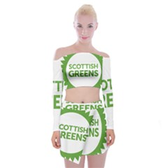 Logo Of Scottish Green Party Off Shoulder Top With Mini Skirt Set by abbeyz71
