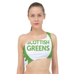 Logo Of Scottish Green Party Spliced Up Bikini Top