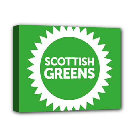 Flag Of Scottish Green Party Deluxe Canvas 14  X 11  (stretched) by abbeyz71