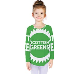 Flag Of Scottish Green Party Kids  Long Sleeve Tee