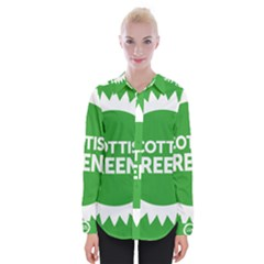 Flag Of Scottish Green Party Womens Long Sleeve Shirt