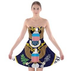 Seal Of The Executive Office Of The President Of The United States Strapless Bra Top Dress