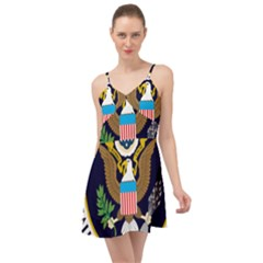 Seal Of The Executive Office Of The President Of The United States Summer Time Chiffon Dress