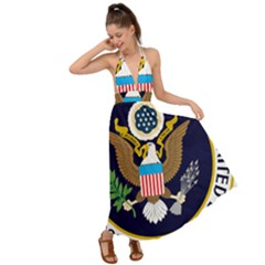 Seal Of The Executive Office Of The President Of The United States Backless Maxi Beach Dress
