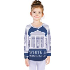 Logo Of The White House  Kids  Long Sleeve Tee