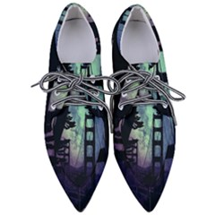 Bridge Construction Trees Women s Pointed Oxford Shoes