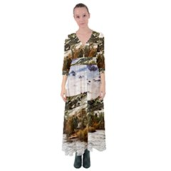River Hills Evening California Button Up Maxi Dress