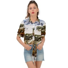 River Hills Evening California Tie Front Shirt  by Simbadda