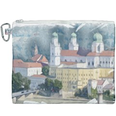 Architecture Old Sky Travel Canvas Cosmetic Bag (xxxl) by Simbadda