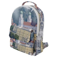 Architecture Old Sky Travel Flap Pocket Backpack (small) by Simbadda