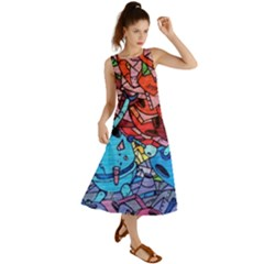 Graffiti Wall Mural Painting Arts Summer Maxi Dress