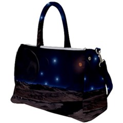 Lunar Landscape Star Brown Dwarf Duffel Travel Bag by Simbadda