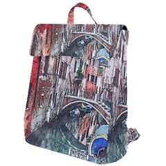 Venice Water Laguna Italy Flap Top Backpack by Simbadda