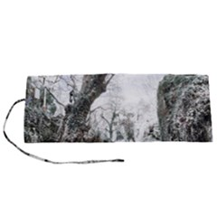 Tree Waterfall Landscape Nature Roll Up Canvas Pencil Holder (s)