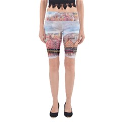 Architecture City Buildings River Yoga Cropped Leggings