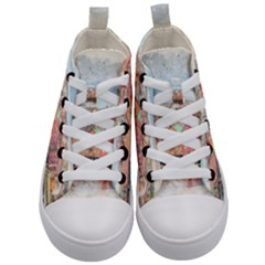 Architecture City Buildings River Kids  Mid Top Canvas Sneakers