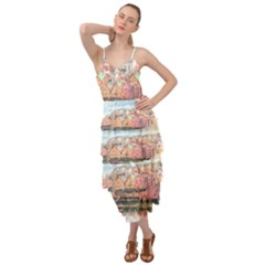 Architecture City Buildings River Layered Bottom Dress