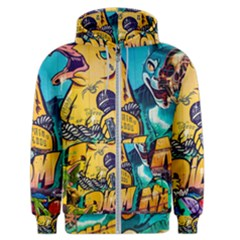 Graffiti Street Art Mountains Wall Men s Zipper Hoodie