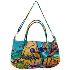 Graffiti Street Art Mountains Wall Removal Strap Handbag
