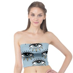 Eyes Pattern Tube Top