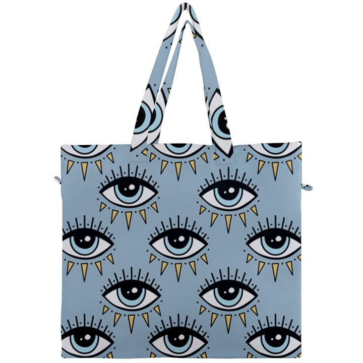 Eyes pattern Canvas Travel Bag