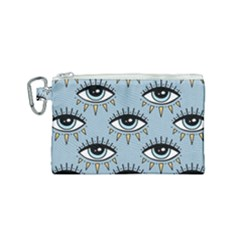 Eyes Pattern Canvas Cosmetic Bag (small)