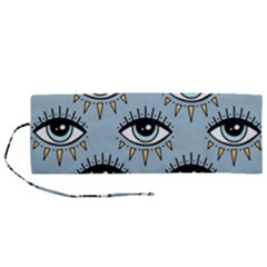 Eyes Pattern Roll Up Canvas Pencil Holder (m)