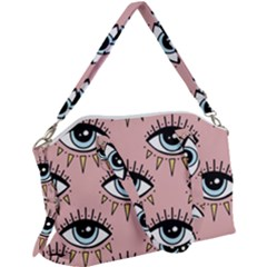 Eyes Pattern Canvas Crossbody Bag