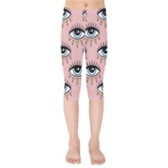 Eyes Pattern Kids  Capri Leggings
