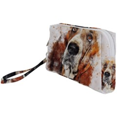 Dog Painting Wristlet Pouch Bag (small)