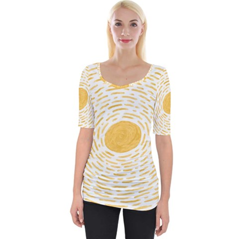 Sunshine Wide Neckline Tee by goljakoff