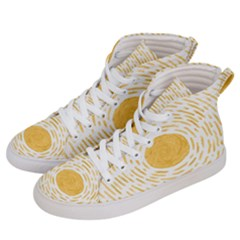 Sunshine Women s Hi Top Skate Sneakers by goljakoff