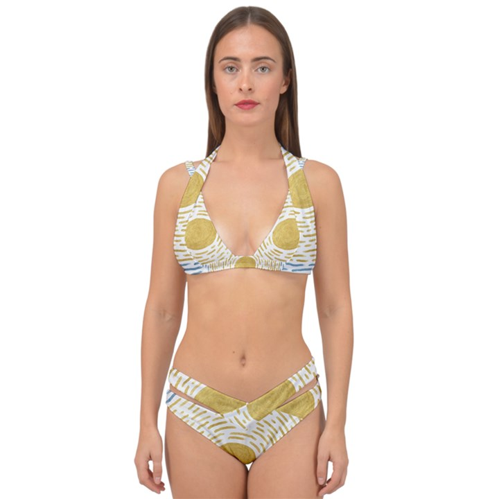 Summer sky Double Strap Halter Bikini Set
