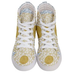 Summer Sky Women s Hi Top Skate Sneakers