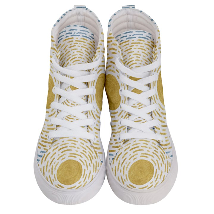 Summer sky Women s Hi-Top Skate Sneakers