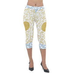 Summer Sky Lightweight Velour Capri Leggings