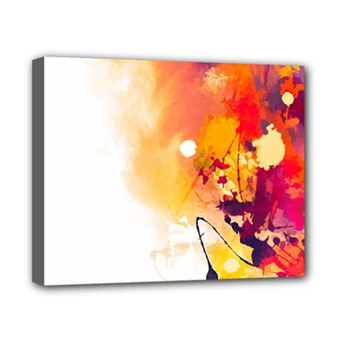 Autumn Paint Canvas 10  X 8  (stretched)