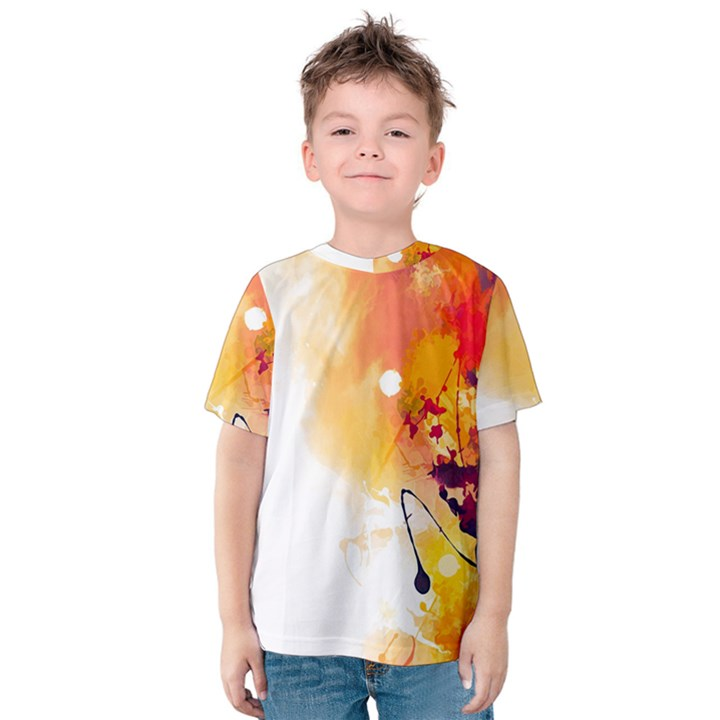 Autumn paint Kids  Cotton Tee