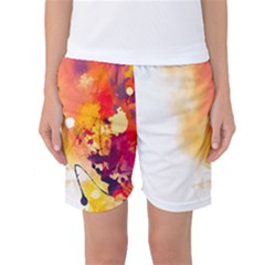 Autumn Paint Women s Basketball Shorts